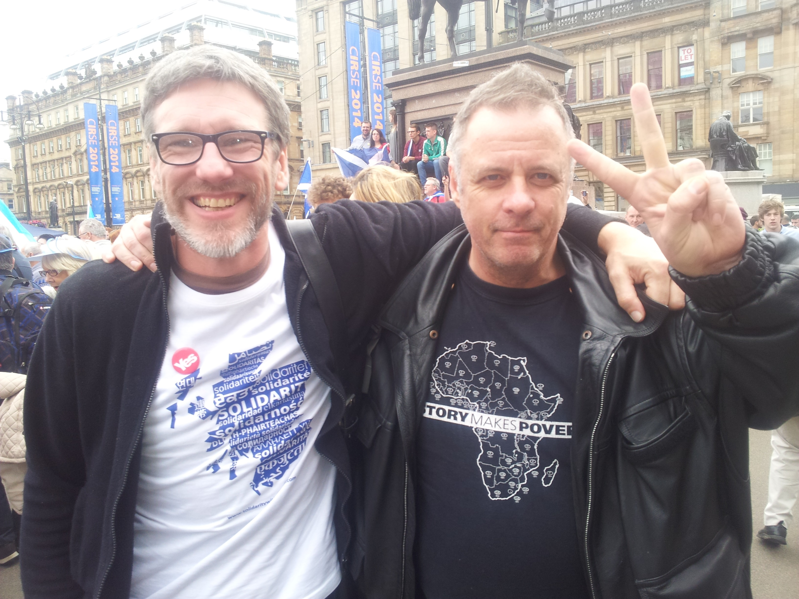 Robin McAlpine and an old Fenian