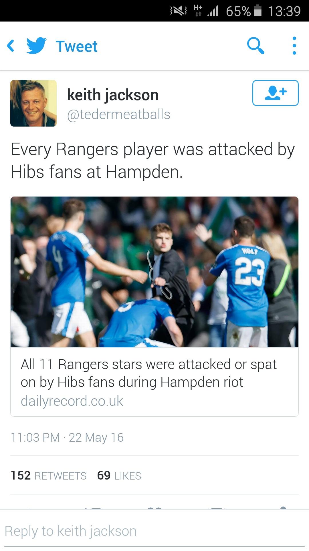 Keith Jackson Tweet_every player assaulted Screenshot_2016-05-23-13-39-51